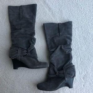 Naughty Monkey Grey Boots